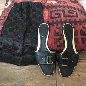 Gucci Shoes - Authentic Gucci Leather Sandal!